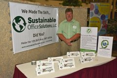 2014 Sunrise Breakfast - Andy Picco at display table